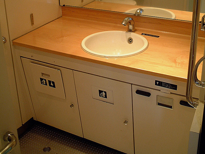 Kamome 787 series sanitary space