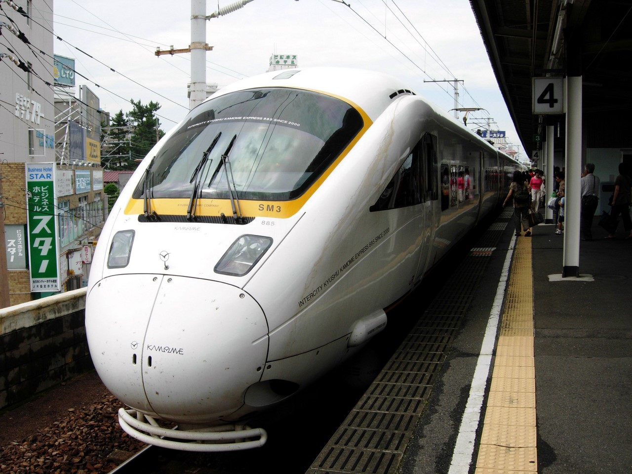 Limited express Kamome is operated by one of the most updated train, JR Kyushu 885 series.