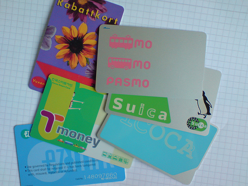 There are so many kinds of IC Card in Japan, like Suica (JR East), ICOCA (JR West), Pasmo (major private lines in Kanto). (C) Karl Baron
