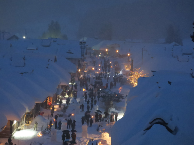 Trip to Aizu, Nikko and Hakone in 2014 winter – Part 8, winter festival in Ouchi-juku