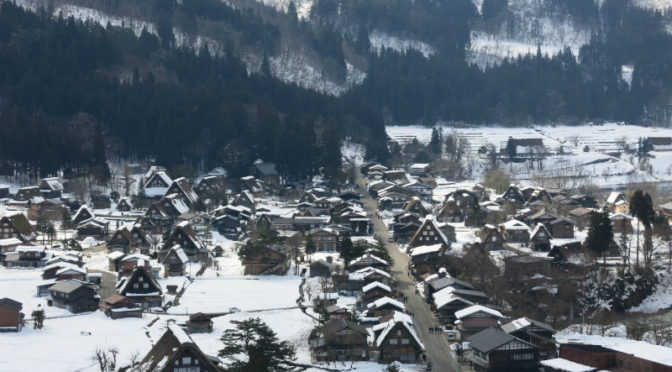 Trip to Tohoku, Chubu and Chugoku in 2016 winter – Part 6, Takaoka to Shirakawago via Himi line, Johana line and Shirakawago